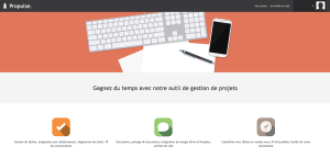 Propulse : Gestionnaire de projets en ligne
