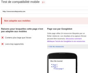 Test compatibilité Joomla!