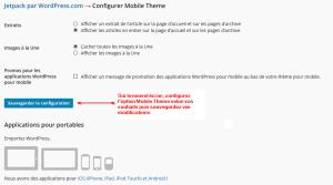 Affichage mobile friendly via JetPack