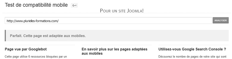Joomla! : affichage sur supports mobiles
