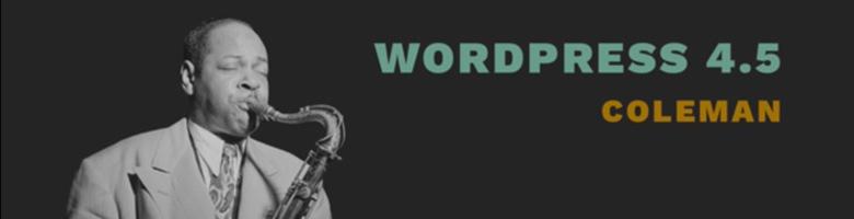 WordPress 4.5 : améliorations ?